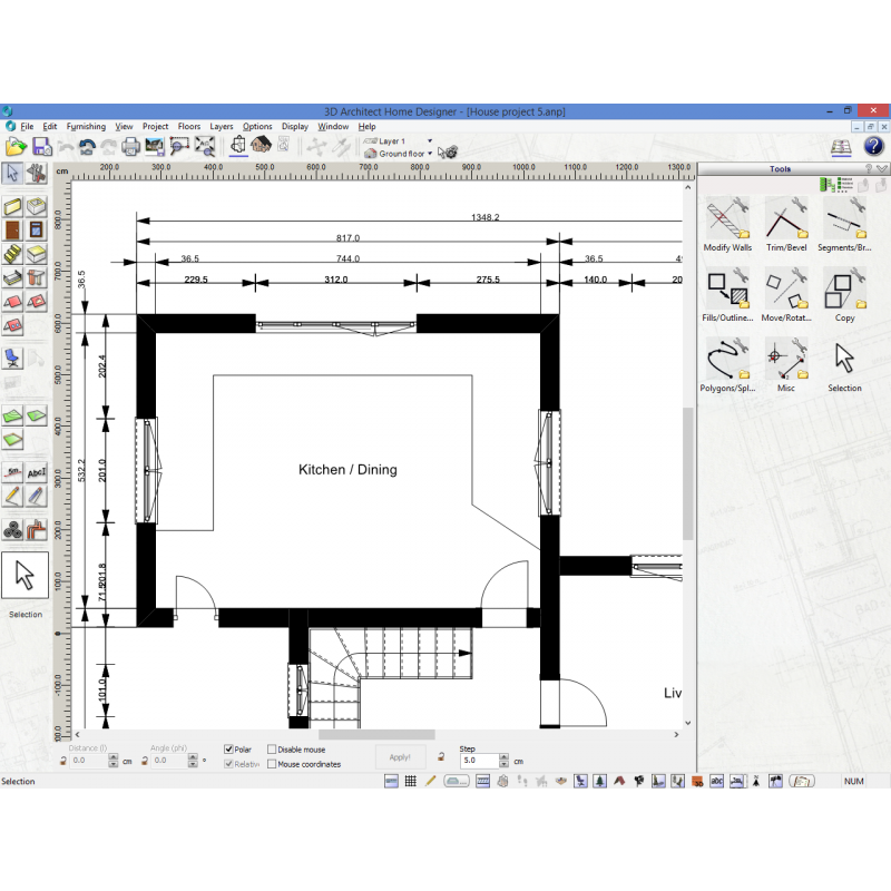 Powerful 2d and 3d architectural cad software 3d for 2d architectural drawing software free