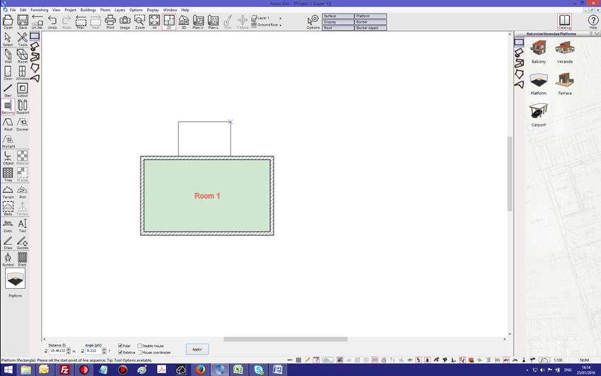 Adding railing to floor plan