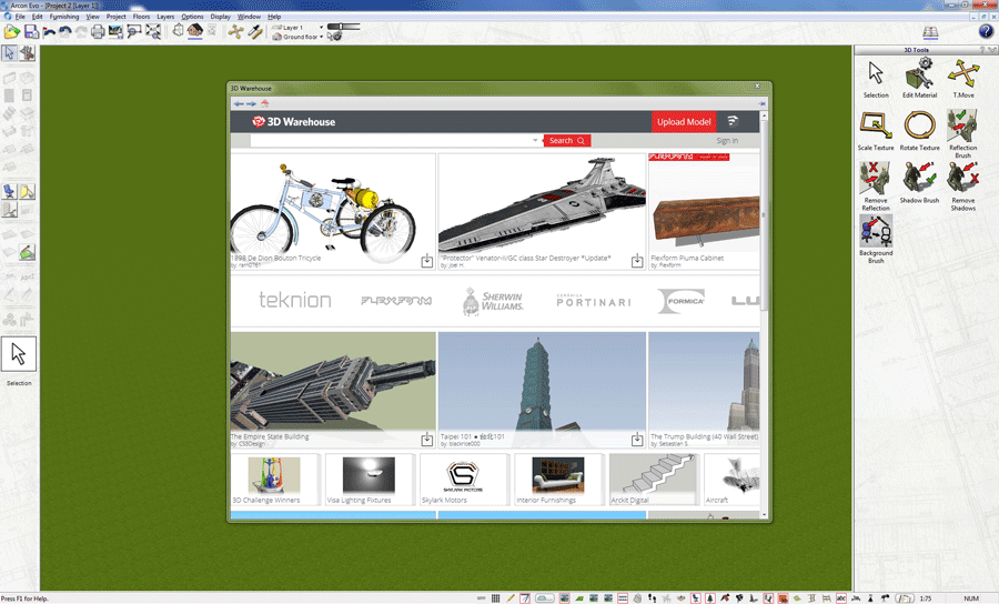 Import images from Google 3D Warehouse
