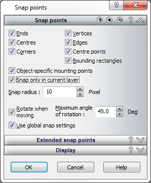 Snap tool in Arcon Evo CAD software