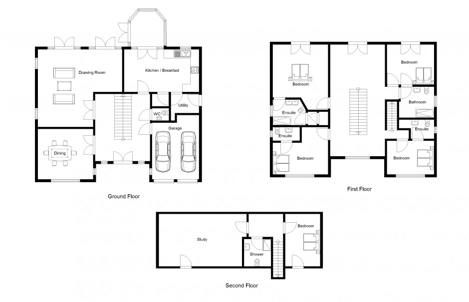 2d building drawing images galleries for House 2d plans