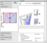 Window editor. Modify window features fulfill your design requirements
