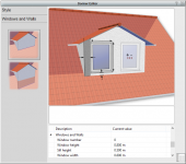 Adding and customising dormer using dormer editior
