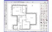 2D floor plan with measurements