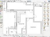2D floor plan layout