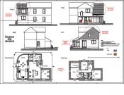 2d elevation and floor plan