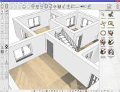 3D floor plan in the early design stage.