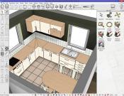 3D kitchen interior in the design stage